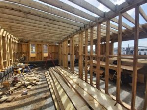 Timber frame house extension update